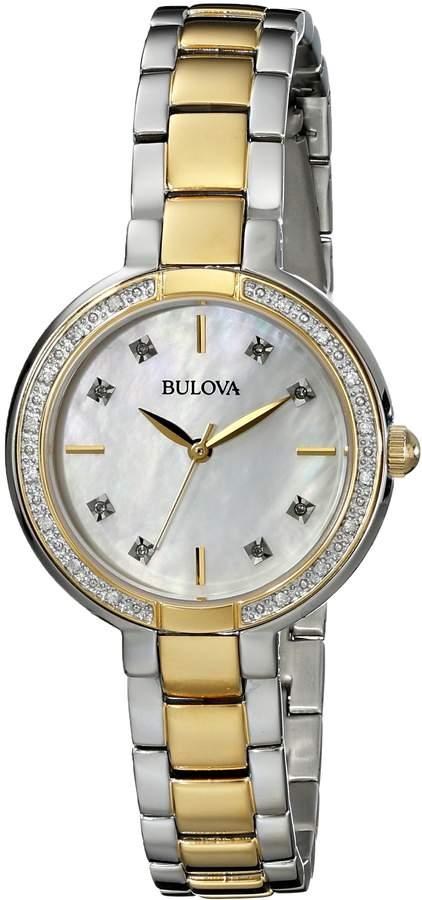 Bulova Women's 98R172 Diamond Set Case Watch