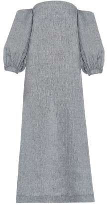 LISA MARIE FERNANDEZ Rosie off-the-shoulder linen dress $695 thestylecure.com
