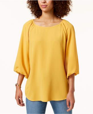 Charter Club Blouson-Sleeve Top, Created for Macy's