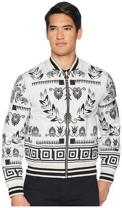 Versace Reversible Floral Print Bomber Men's Coat