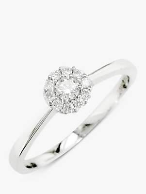 EWA 18ct White Gold Diamond Cluster Engagement Ring
