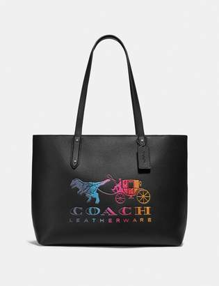 Coach Central Tote With Zip With Rexy And Carriage