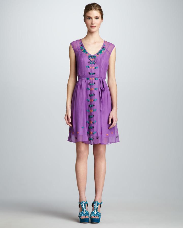 Nanette Lepore Distant Thunder Embellished Dress