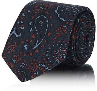 Kiton Men's Paisley Silk Jacquard Necktie