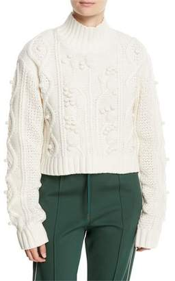 Joseph Wool Cable-Knit Cropped Sweater