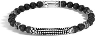 John Hardy Men's 6mm Classic Chain Jawan Onyx Beaded Bracelet