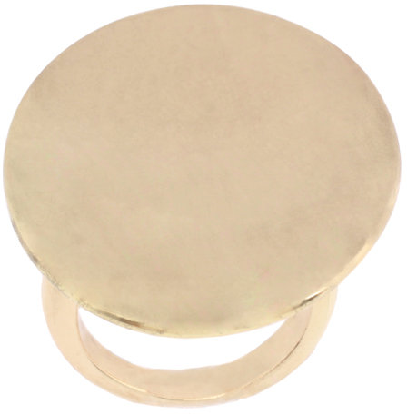 French Connection Organic Oval Gold Disc Ring