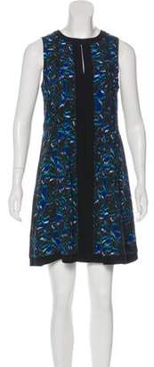 Proenza Schouler Silk Printed Dress Blue Silk Printed Dress