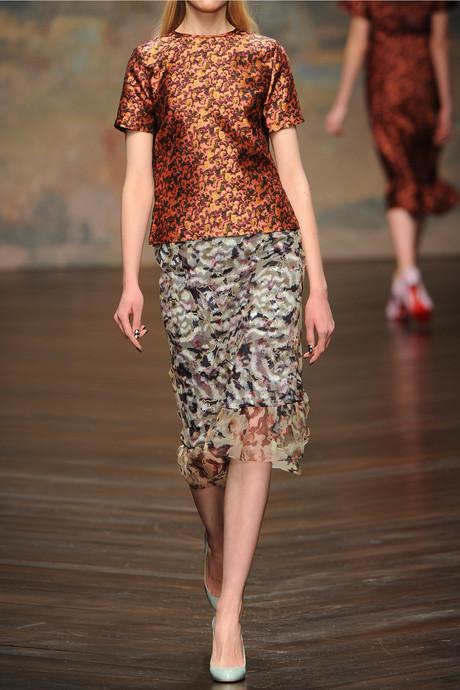 Michael Van Der Ham Silk and wool-blend jacquard top