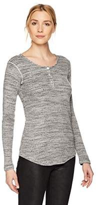 Monrow Women's Spec Thermal Long Sleeve Henley