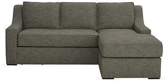 "Ash Kara Mann For Milling Road Studio 71"" Sectional w/Movable Ottoman - Smoke"