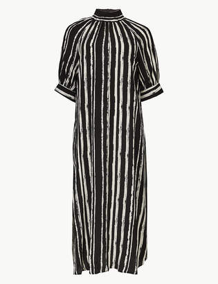 Marks and Spencer Striped Shift Midi Dress
