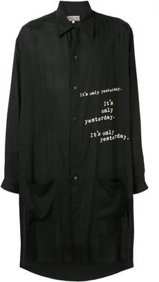 Yohji Yamamoto printed oversized shirt