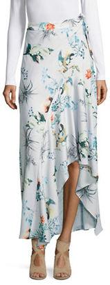 Context Floral-Print Asymmetric Skirt $88 thestylecure.com
