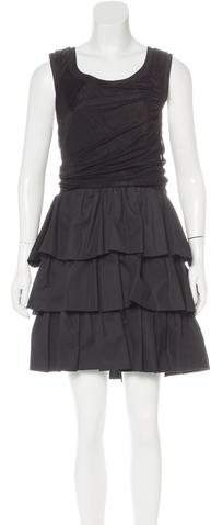 Balenciaga  Balenciaga Ruffled Sleeveless Dress