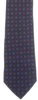Etro Floral Print Silk Tie