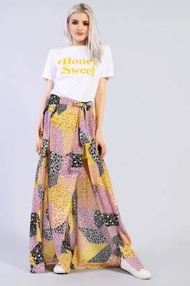 Glamorous **Patchwork Wrap Skirt by Petites