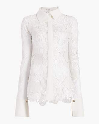 Aaizél Simone Faux Leather And Lace Shirt