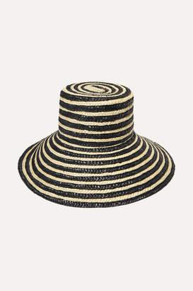 Eugenia Kim Annabelle Striped Straw Hat - Black