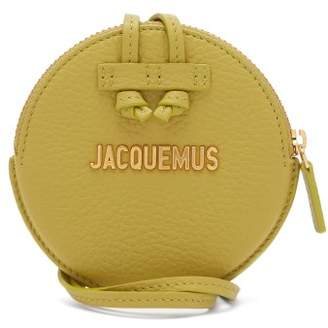 Jacquemus Le Pitchou Leather Coin Purse Necklace - Womens - Green