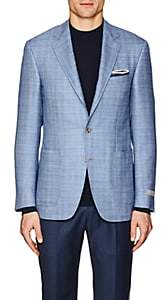 Canali Men's Kei Wool-Blend Two-Button Sportcoat-Lt. Blue