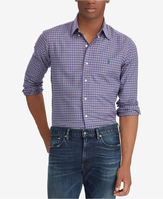 Polo Ralph Lauren Men Classic-Fit Plaid Twill Shirt