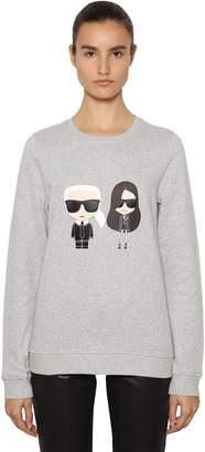 Karl Lagerfeld And Kaia Print Cotton Sweatshirt