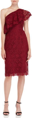 Nanette Lepore Nanette Lace One-Shoulder Sheath Dress