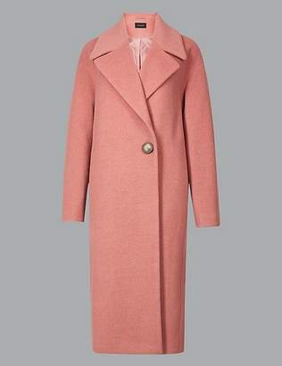 Marks and Spencer Textured Single Breasted Coat