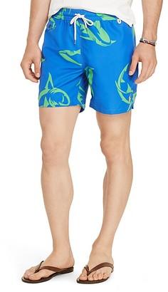 Polo Ralph Lauren Shark Print Swim Trunks $69.50 thestylecure.com