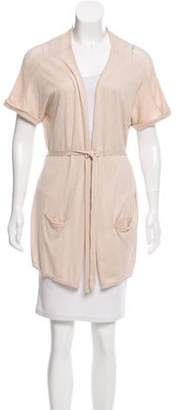 Gerard Darel Short Sleeve Open Front Cardigan