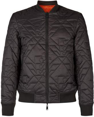 Emporio Armani Quilted Eagle Bomber Jacket