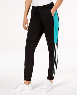 adidas Colorblocked Mesh-Trimmed Wind Pants