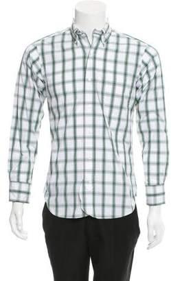 Black Fleece Gingham Button-Up Shirt