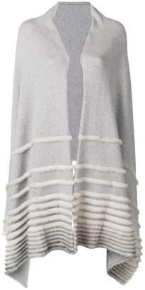 Agnona stripes knit poncho
