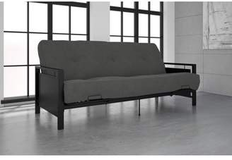 DHP Henley Black Metal Arm Futon Frame with Coil Full Futon Mattress, Multiple Colors and Sizes