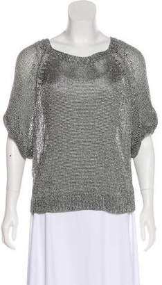 Vince Semi-Sheer Short Sleeve Sweater