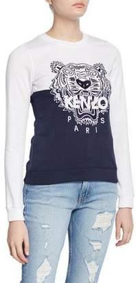 Kenzo Tiger Logo Colorblock Sweatshirt