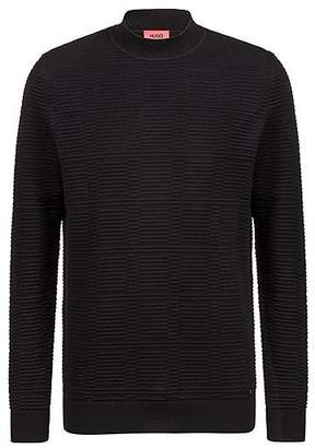 HUGO BOSS Relaxed-fit sweater in ottoman-knitted cotton