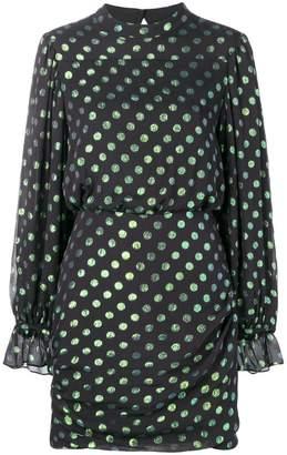 Saloni polka dot printed dress