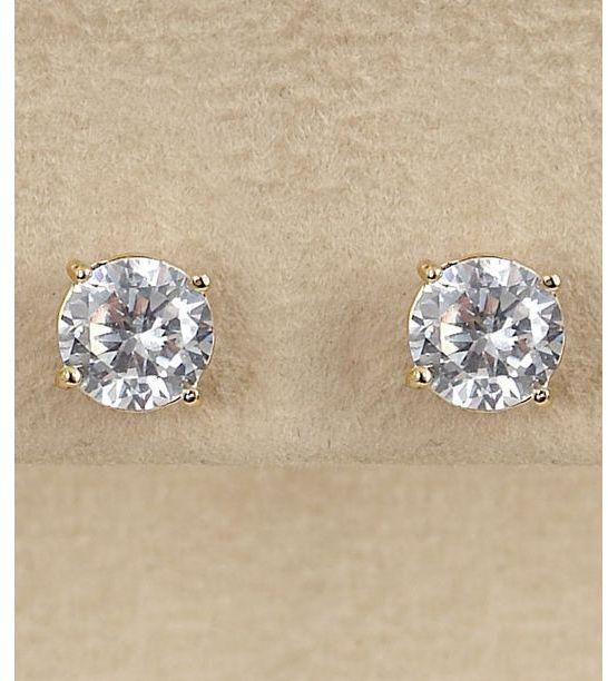 Dillard's sterling collection 7mm cz stud earrings