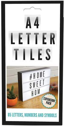 Fizz 85-Piece Black/White Letter Pack For Cinematic Message Board
