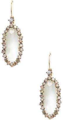 Suzanne Kalan 0.55 Tcw Champagne Diamond & Green Amethyst 14K Oval Drop Earring