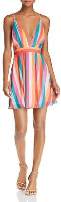 Aqua Rainbow-Stripe Mini Dress - 100% Exclusive