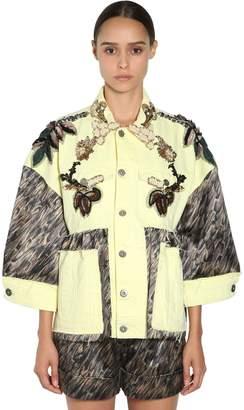 Antonio Marras Embellished Cotton Denim Jacket