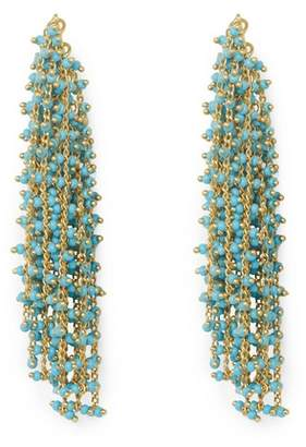 Vince Camuto Goldtone & Faux Turquoise Waterfall Earrings
