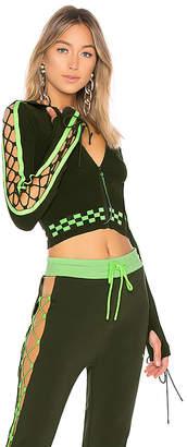 FENTY PUMA by Rihanna Laced Sleeve Sweater Zip Hoodie