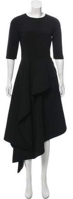Oscar de la Renta Asymmetric Draped Dress