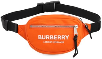 Burberry Cannon Logo Print Techno Belt Bag