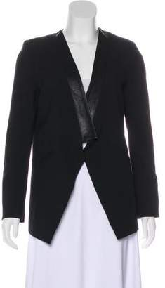 Mason by Michelle Mason Contrast Long Sleeve Blazer